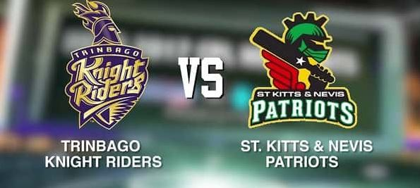 Trinbago Knight Riders vs St Kitts and Nevis Patriots cpl 2019