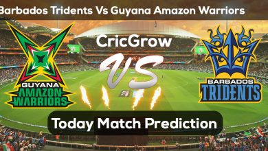 Photo of Caribbean Premiere League 2019: Guyana Amazon Warriors vs Barbados Tridents (October 3) – FINAL Match 100% Confirmed Win Prediction Report Tips