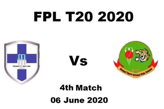 Today Match Prediction HCC vs BTC– Finnish Premier League T20 2020-4th Match-Who Will Win